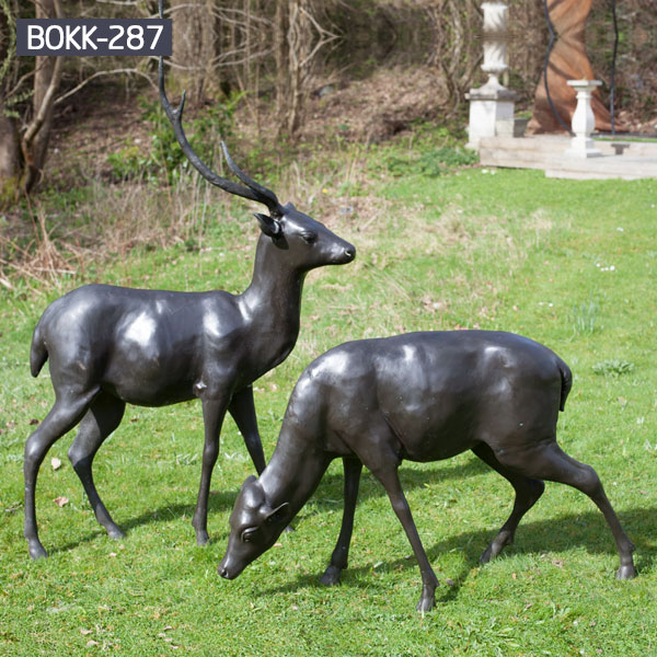 life size reindeer garden statue price for sale