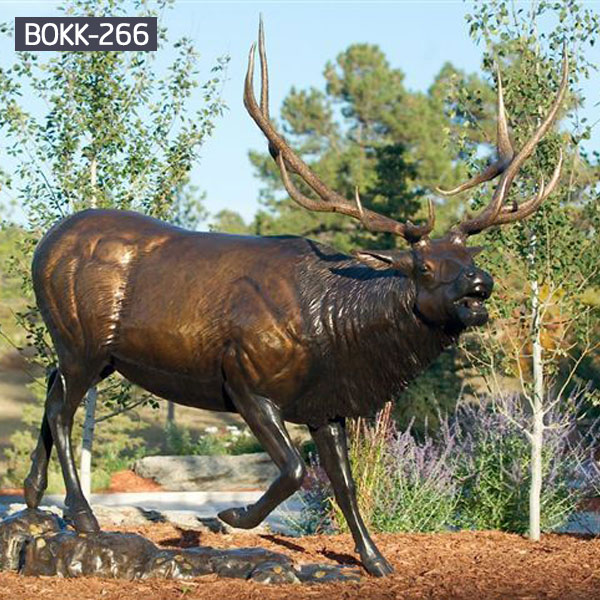 metal art life size deer yard sculpture design