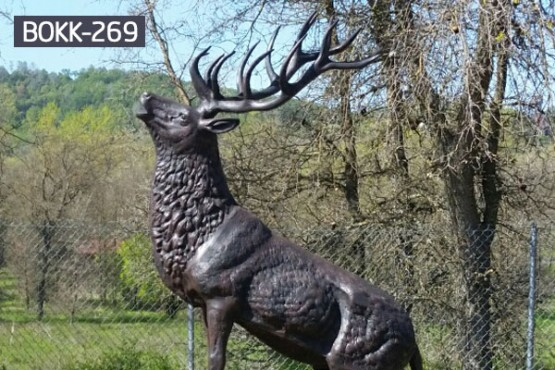 Large bronze stag statue garden outdoor decoration BOKK-269