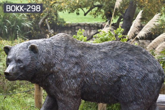 Large Outdoor Bronze Black Bear Garden Statues For Lawn Ornaments Bokk 298