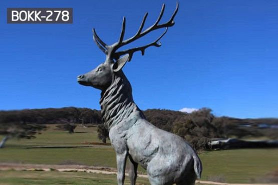 Life size garden stag bronze wildlife animal statues to buy BOKK-278
