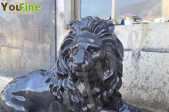 High-quality Craft Bronze Outdoor Lying Lion Sculpture for Yard Decor Online BOKK-864