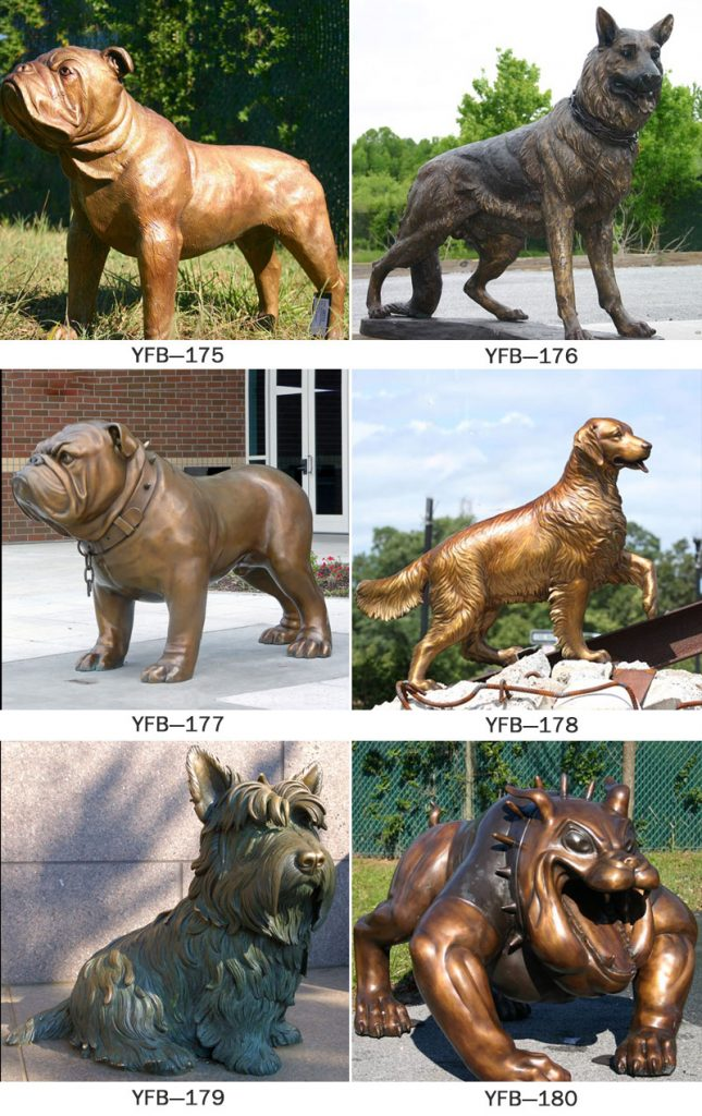 Bronze life size dog garden sculpture s designs