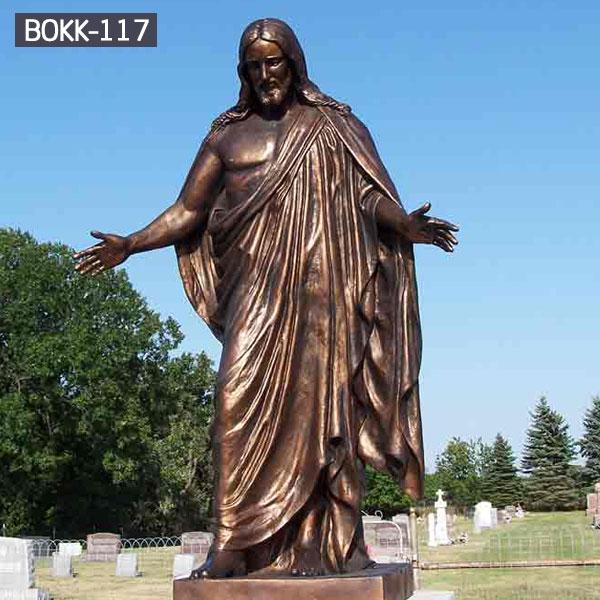 Bronze life size jesus catholic religious garden statues for sale BOKK-117