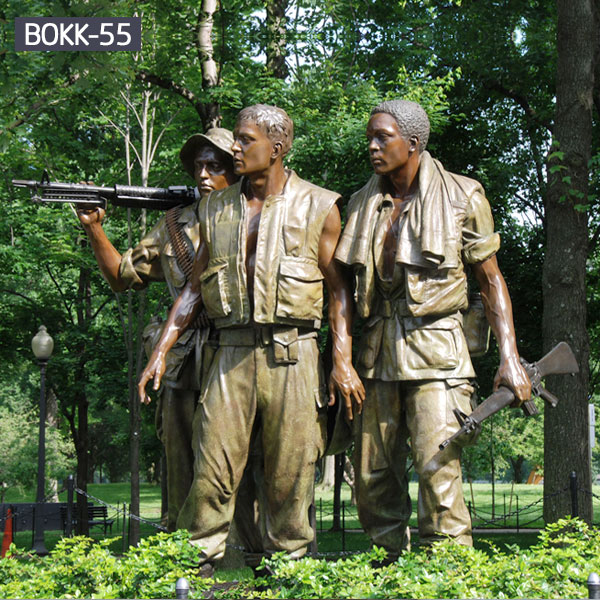Bronze military soliders life size lawn army statues for sale BOKK-55
