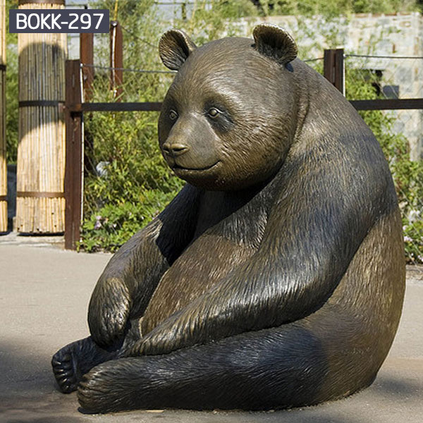 Giant panda Bear Outdoor Bronze Animal Statue for Sale BOKK-297