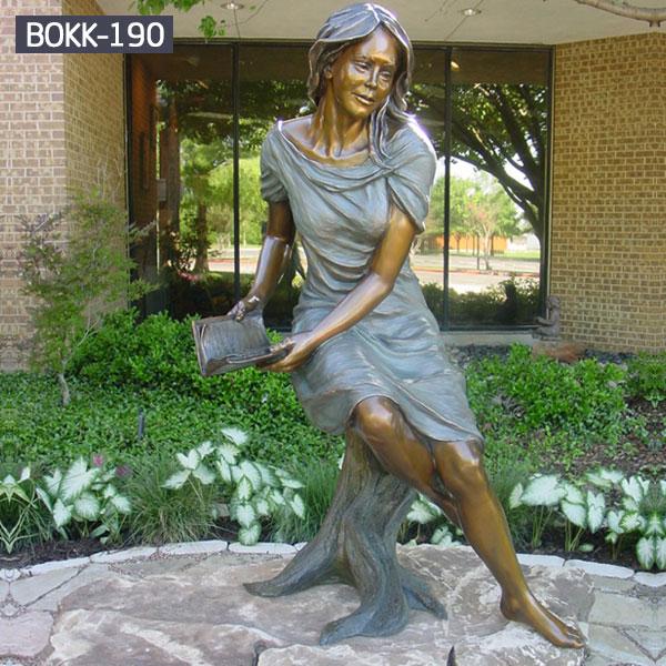 Buy life size bronze female garden statue outdoor decor BOKK-190