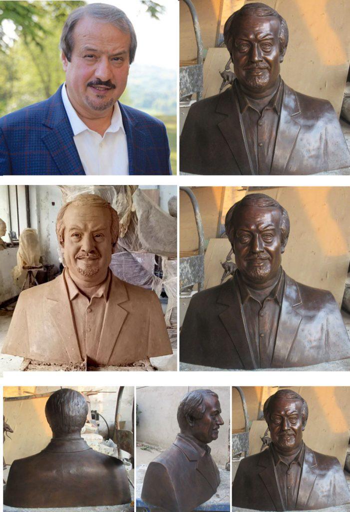 Custom bust statue of yourself in bronze design