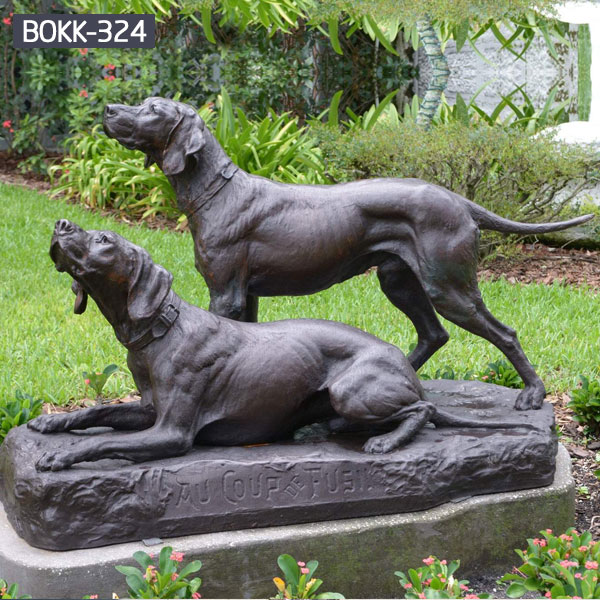 Custom made boxer dog statues outdoor garden animal statues for sale BOKK-324