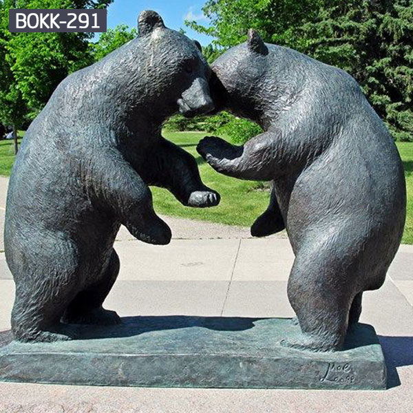 Fighting bear bronze animal garden ornaments BOKK-291