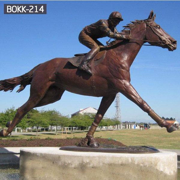 Full size antique bronze horseman garden statue ebayBOKK-214
