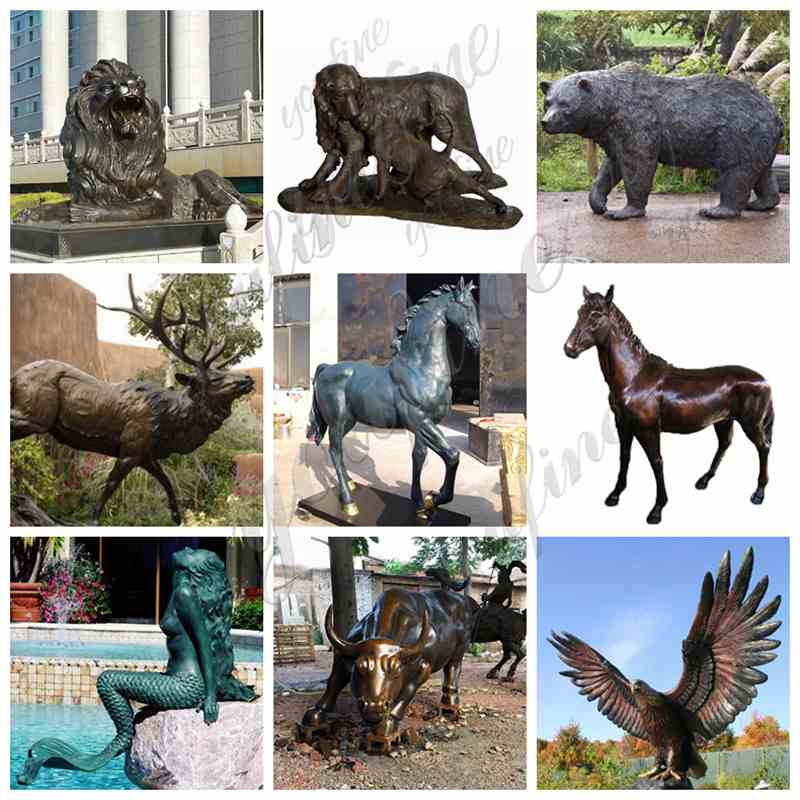 Large Size Outdoor Bronze Stag Statue