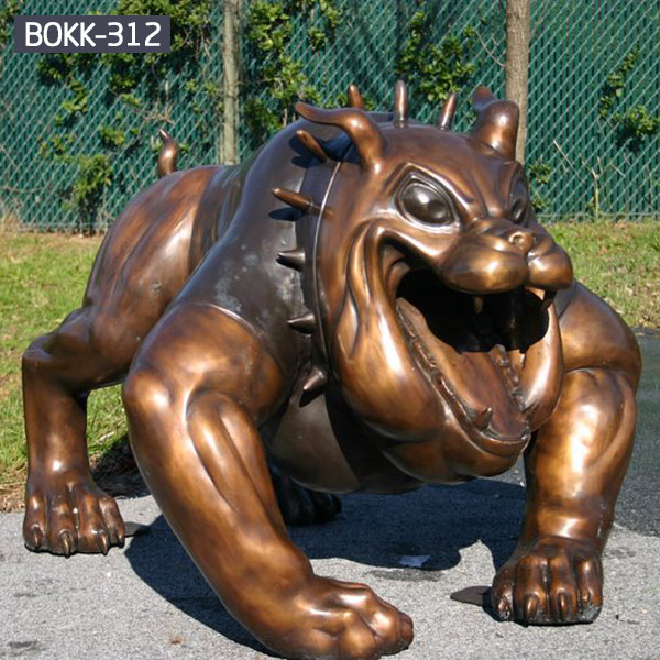 Large bronze bulldog garden lawn statue for sale  BOKK-312