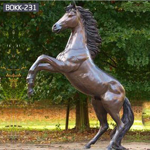 Large custom rearing horse garden decorative statue for sale BOKK-231
