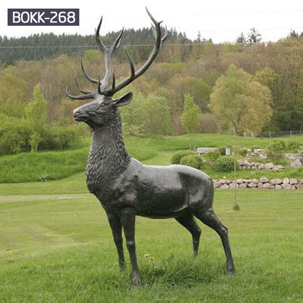 Large outdoor deer bronze garden statues to buy BOKK-268