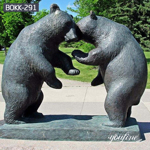 Life Size Bronze Bear Statue Square Decoration Supplier BOKK-291