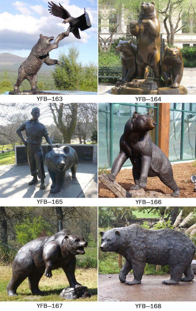 Life size bronze bear garden statues designs