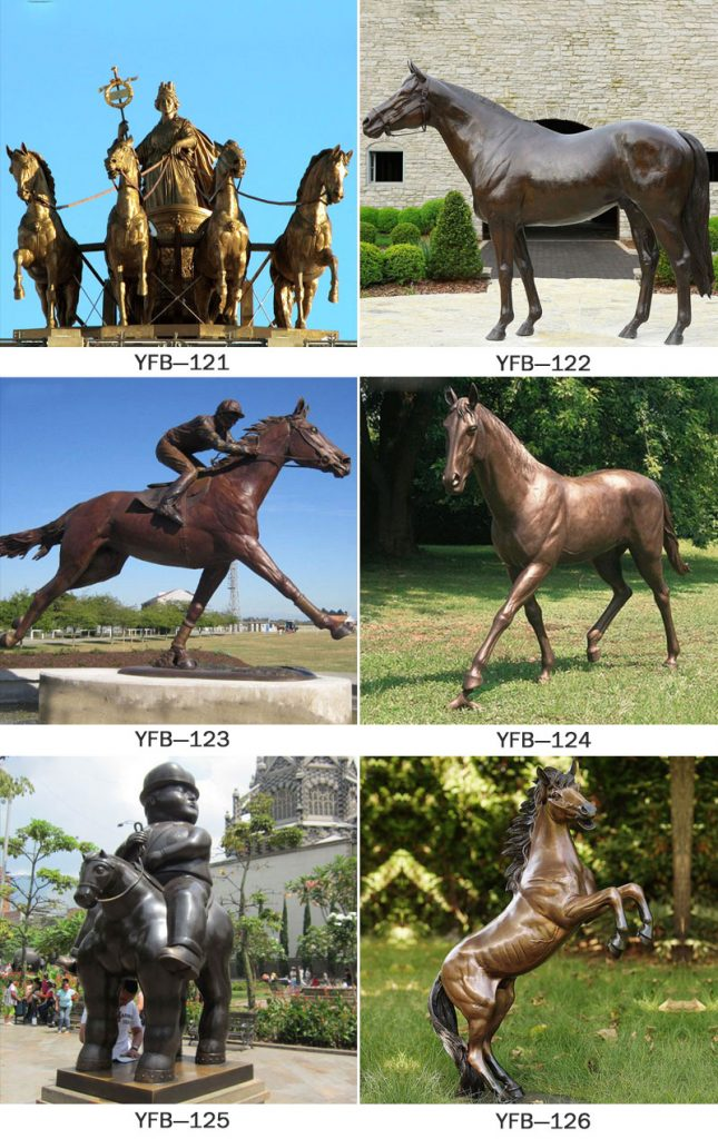 Large Vintage Horseman Garden Animal, Horse Garden Statues Australia