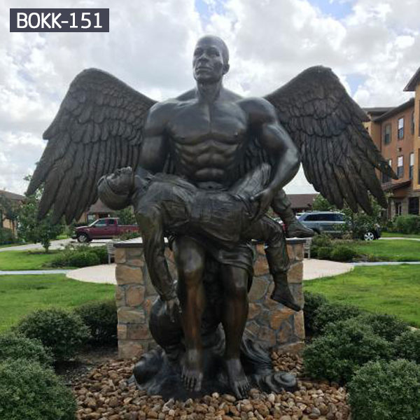 Outdoor bronze female angel statues monuments fro sale BOKK-151