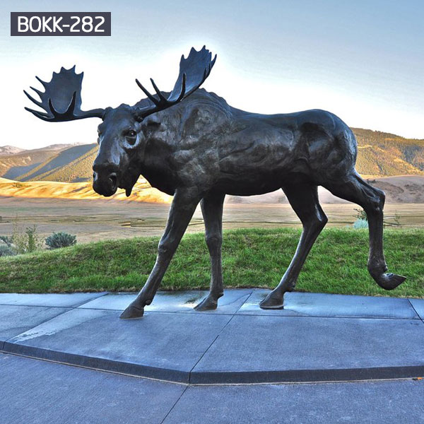 Outdoor large bronze moose statues animal designs BOKK-282
