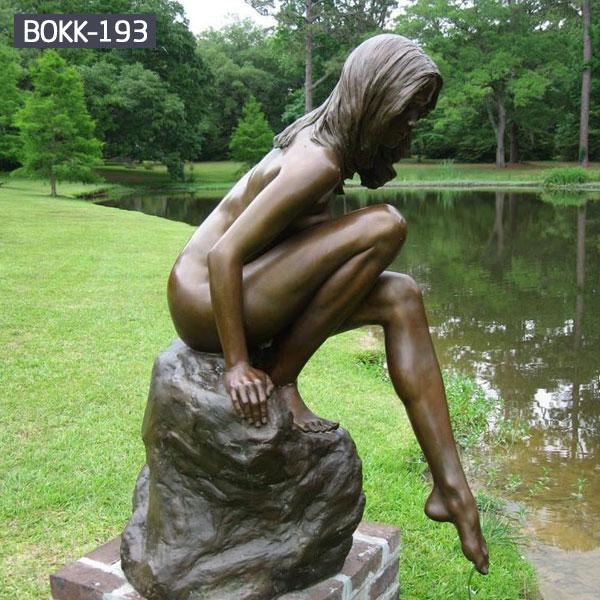 Outdoor life size bronze garden sculpture nude woman for sale BOKK-193