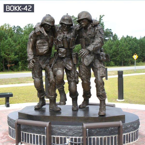 Outdoor military army soliders statue monuments for garden lawn deocr BOKK-42