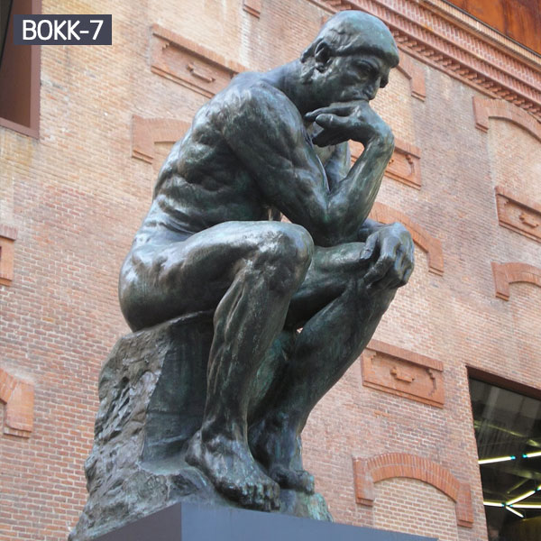 Rodin the thinker thinking man replica bronze sculpture outdoor BOKK-7