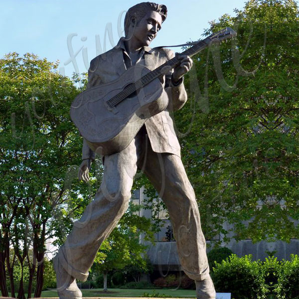 Custom famous figure statues of Elvis Presley for outdoor garden online sale BOKK-12