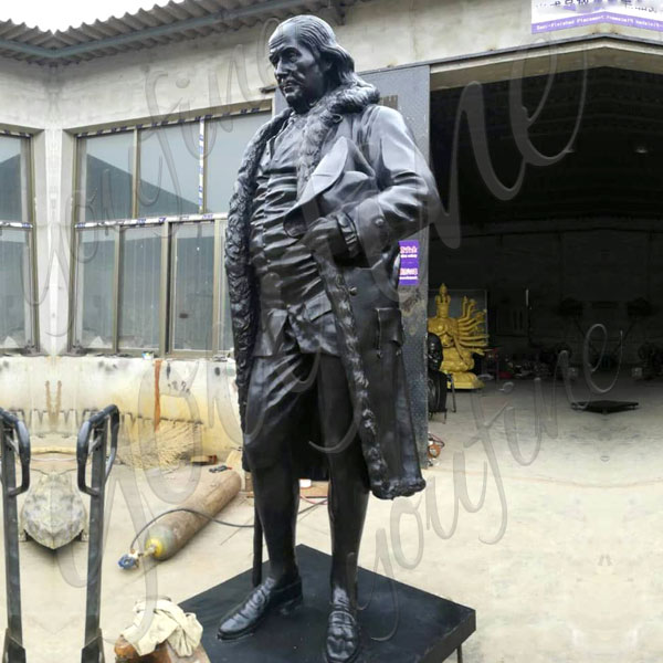 Custom life size Benjamin Franklin bronze casting sculpture from photo for sale BOKK-509