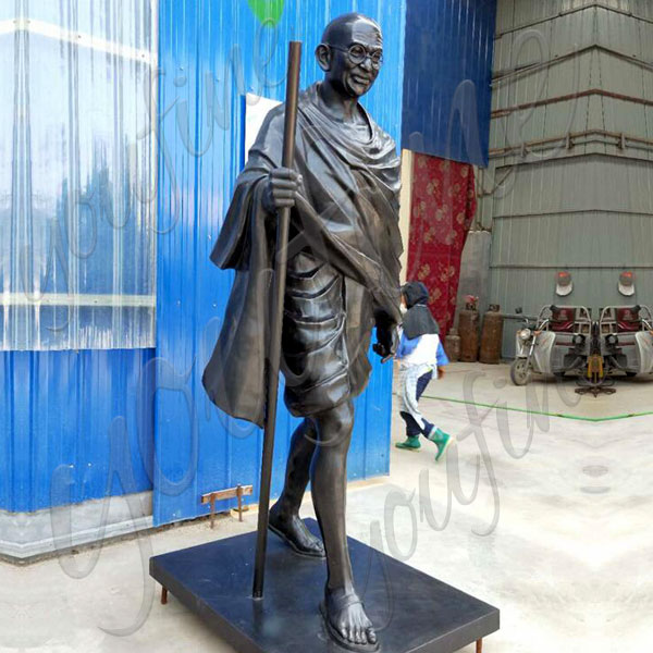Custom made mohandas karamchand gandhi bronze life size sculpture from a photo costs BOKK-510