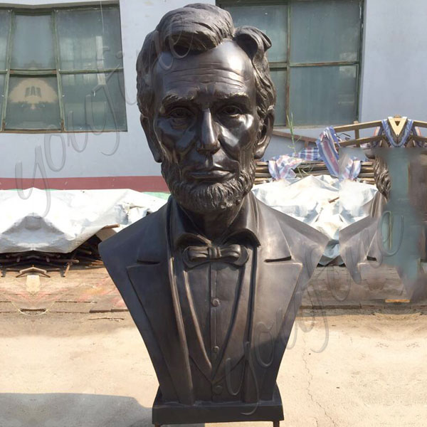 Famous bronze custom made bust statues of President lincoln from a photo BOKK-513
