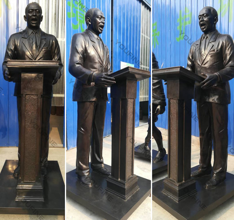 Order custom life size bronze photo sculptures of Martin Luther King