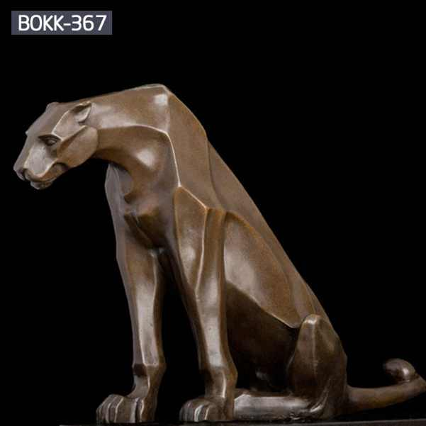 Hot Sale Life Size Garden Decoration Bronze Leopard Statue BOKK-367