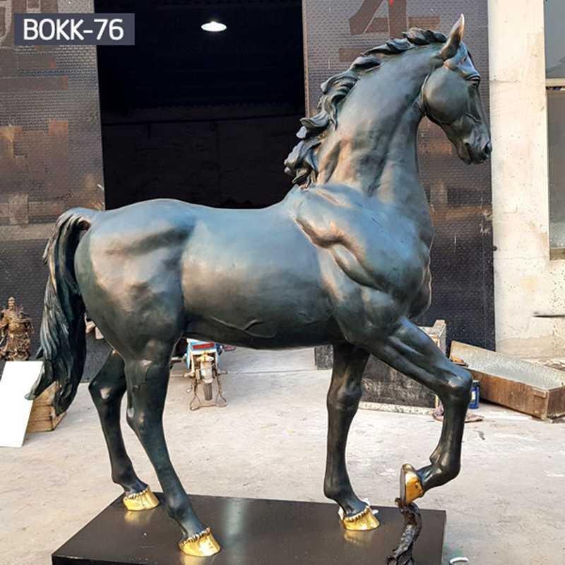 greek bronze horse statues,