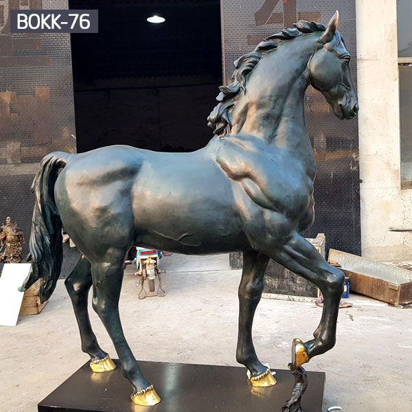 Hot Sale High Quality Garden Decoration Bronze Horse Sculpture BOKK-212