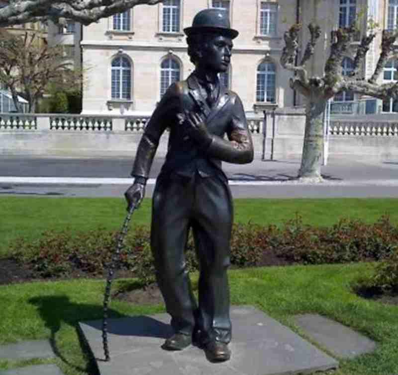 Famous Comedy Actor Chaplin Bronze Statue