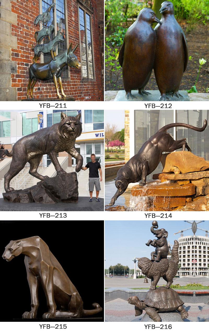wildlife bronze sculptures,