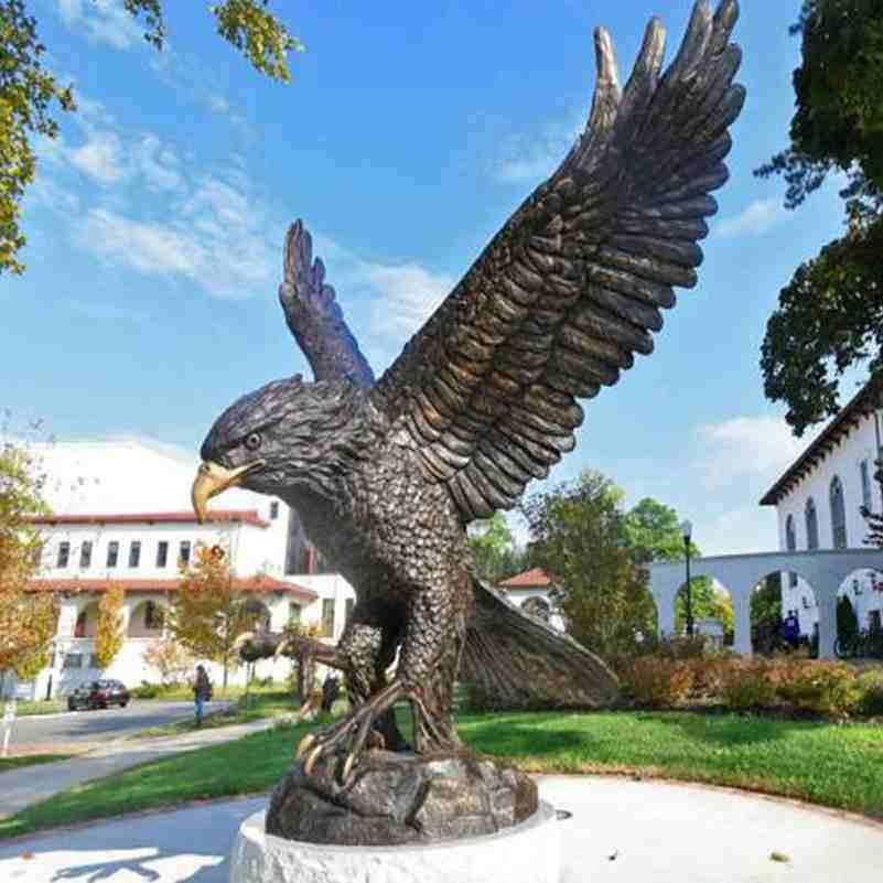 large bronze eagle statues,