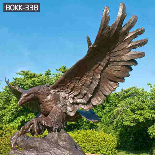 Outdoor Customize Large Bronze Eagle Statues for Sale BOKK-338