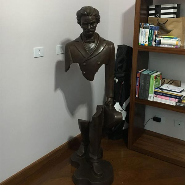 Life Size Body Empty Bruno Catalano Bronze Statue BOKK-04