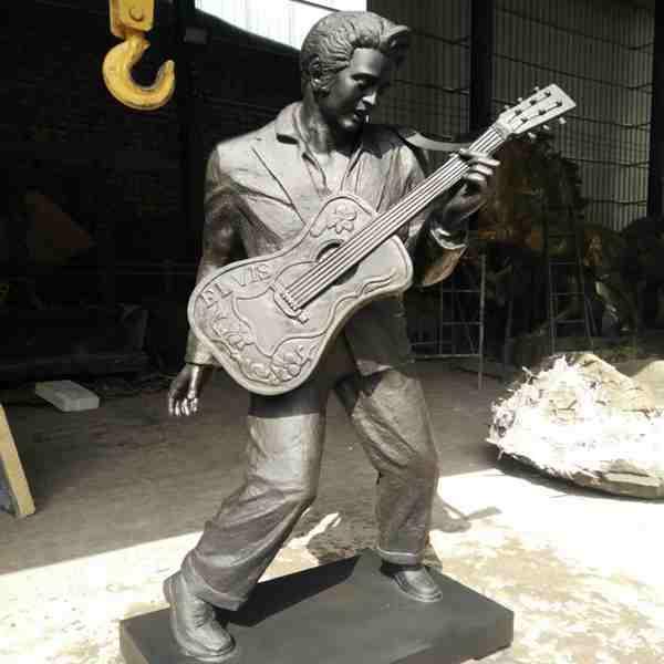 Life Size Talent Famous Singer Elvis Bronze Statue BOKK-03