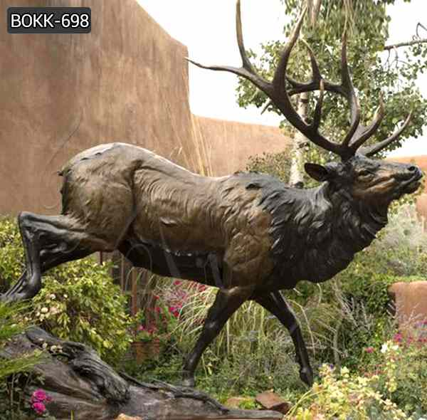 Hot Selling Outdoor Standing Bronze Deer for Sale BOKK-698