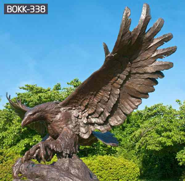 Park Yard Decorative Casting Bronze Large Flying Eagle BOKK-338
