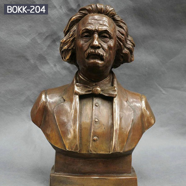 Customized Bronze Great Scientist Einstein Bust with Competitive Price BOKK-204