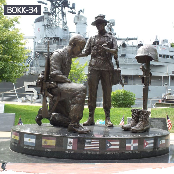 Outdoor Bronze Army Soldiers Statue Monuments for Sale BOKK-34