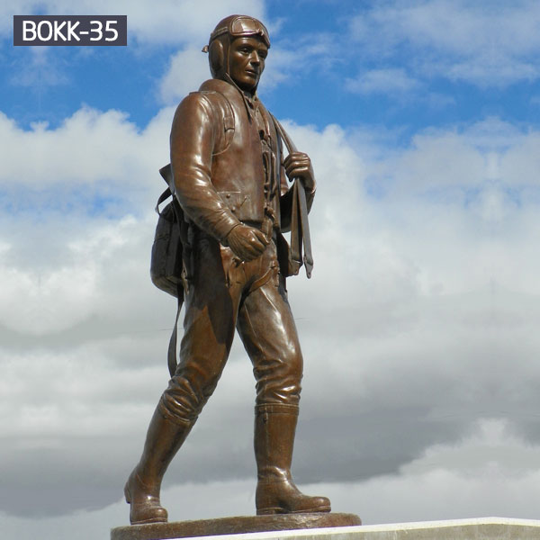 Life Size Bronze Soldier Sculpture for Garden Supplier BOKK-35