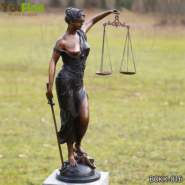 Bronze the Goddess of Justice Sculpture