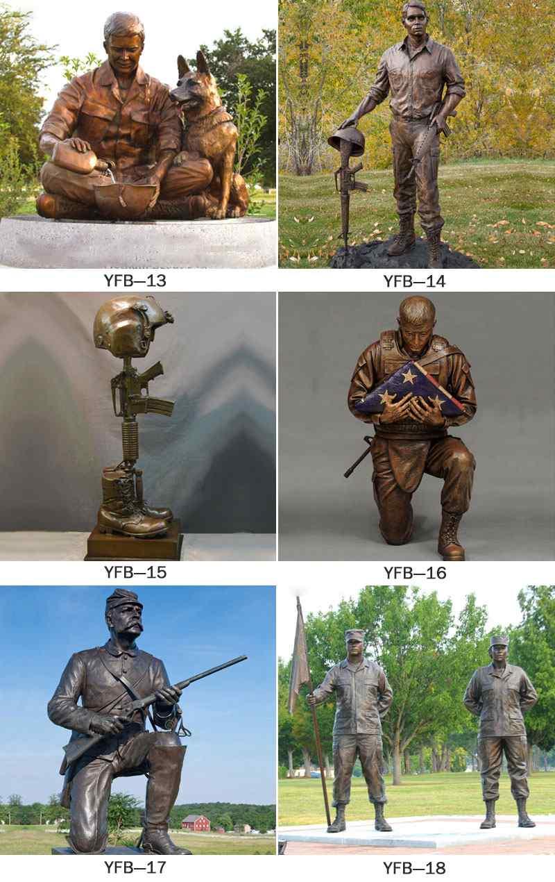 Garden  Bronze Soldier Sculpture