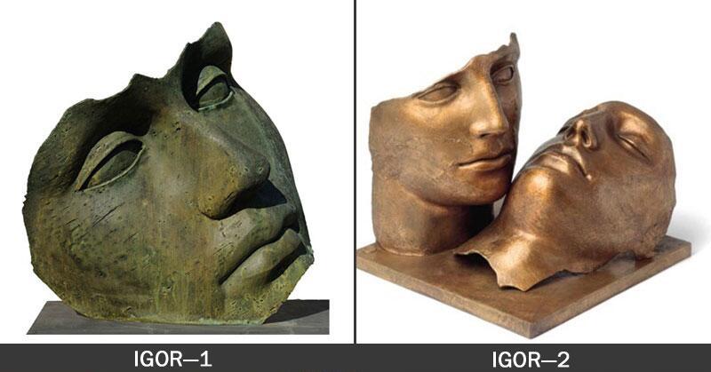 Artistic Bronze Hollow Head Statue
