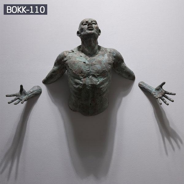 Abstract Bronze Human Figure Sculpture by Matteo Pugliese Replica Supplier BOKK-110